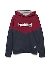 HMLMILO HOODIE - RUMBA RED