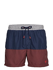 HMLRAMSEY BOARD SHORTS - VINEYARD WINE