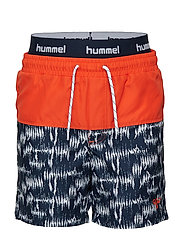HMLSPOT BOARD SHORTS - SALT/PEBBER