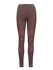 HMLFAY SEAMLESS TIGHTS - MINERAL RED MELANGE