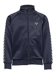 HMLKICK ZIP JACKET - BLACK IRIS/GOLD