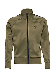 HMLKICK ZIP JACKET - FOUR LEAF CLOVER