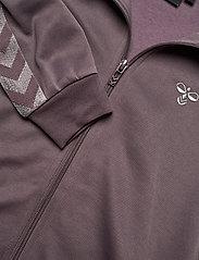 Hummel - HMLKICK ZIP JACKET - sweatshirts - sparrow - 4