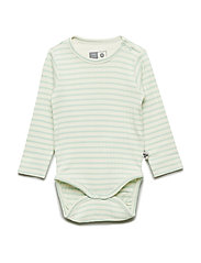 HMLRUMLE BODY L/S - BIRDS EGG GREEN