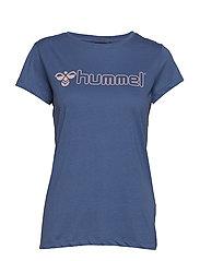 HMLLUCY T-SHIRT S/S - BIJOU BLUE