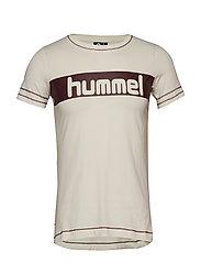 HMLNATALIE T-SHIRT S/S - EGRET