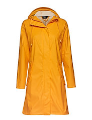 hmlJOY RAIN COAT - LEMON CHROME