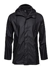 hmlROONIE RAIN COAT - BLACK