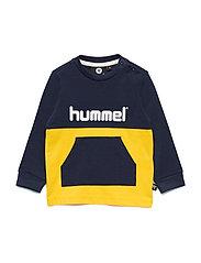 hmlMARIO T-SHIRT L/S - BLACK IRIS