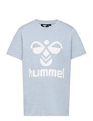 hmlTRES T-SHIRT S/S - BLUE FOG