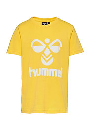 hmlTRES T-SHIRT S/S - MAIZE