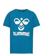 hmlTRES T-SHIRT S/S - MYKONOS BLUE