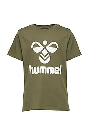 hmlTRES T-SHIRT S/S - OLIVE NIGHT