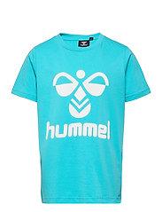 hmlTRES T-SHIRT S/S - SCUBA BLUE