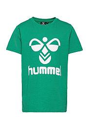 hmlTRES T-SHIRT S/S - ULTRAMARINE GREEN