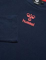 Hummel - hmlJAREL T-SHIRT L/S - bluzki z długim rękawem - black iris - 4