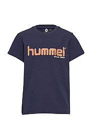 hmlLEO T-SHIRT S/S - BLACK IRIS