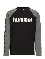 hmlBOYS T-SHIRT L/S - BLACK