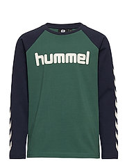 hmlBOYS T-SHIRT L/S - MALLARD GREEN