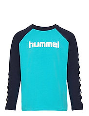 hmlBOYS T-SHIRT L/S - SCUBA BLUE