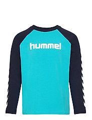 hmlBOYS T-SHIRT L/S - SCUBA BLUE