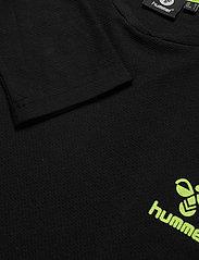 Hummel - hmlJAREL T-SHIRT L/S - langarmshirts - black - 4