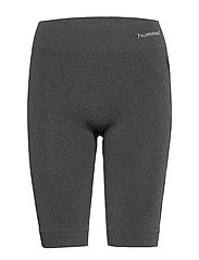 hmlCI SEAMLESS CYCLING SHORTS - BLACK MELANGE