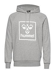 hmlISAM HOODIE - GREY MELANGE