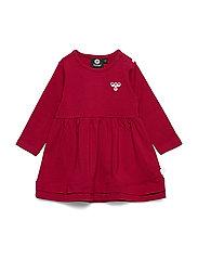 hmlSONJA DRESS L/S - RIO RED