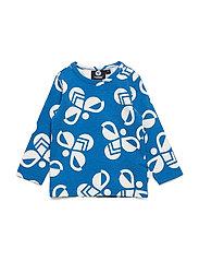 hmlCHARLIE T-SHIRT L/S - DIRECTOIRE BLUE