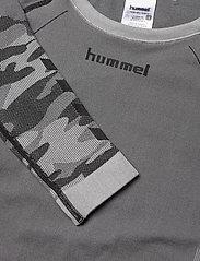 Hummel - hmlMAX SEAMLESS T-SHIRT L/S - long-sleeved t-shirts - medium melange - 2