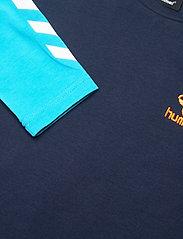 Hummel - hmlMICHAEL T-SHIRT L/S - long-sleeved t-shirts - scuba blue - 4