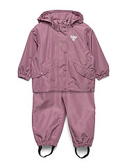 hmlREVA RAINSUIT MINI - DUSKY ORCHID