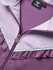 Hummel - hmlJEWEL ZIP JACKET - sweatshirts - chinese violet - 2