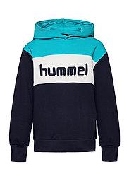 hmlMORTEN HOODIE - SCUBA BLUE