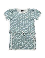 HEART DRESS - STONE BLUE