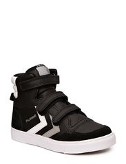 HUMMEL STADIL JR LEATHER HIGH - BLACK/WHITE/GREY