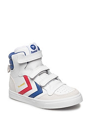 HUMMEL STADIL JR LEATHER HIGH - WHITE