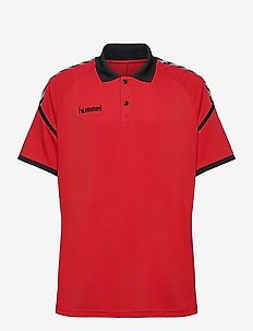 AUTH. CHARGE FUNCTIONAL POLO - kortærmede - true red