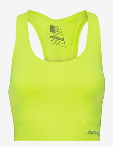 SUE SEAMLESS SPORTS TOP - urheiluliivit: matala tuki - safety yellow
