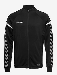 AUTH. CHARGE POLY ZIP JACKET - track jackets - black