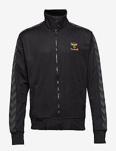 ATLANTIC ZIP JACKET N - track jackets - black/gold