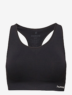 SUE SEAMLESS SPORTS TOP - sport-bh: medium - black