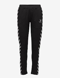 HMLNELLY PANTS - pants - caviar/caviar