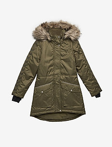 HMLSELINA COAT - puffer & padded - burnt olive