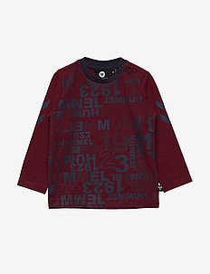 HMLDERRICK T-SHIRT L/S - RUMBA RED