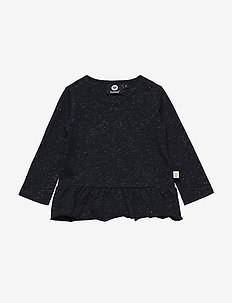 HMLNANNA T-SHIRT L/S - long-sleeved t-shirts - dark navy