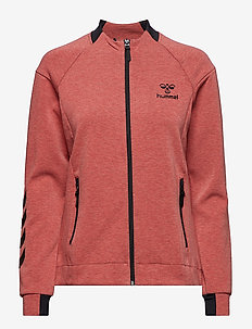 HMLCLIO ZIP JACKET - MINERAL RED MELANGE