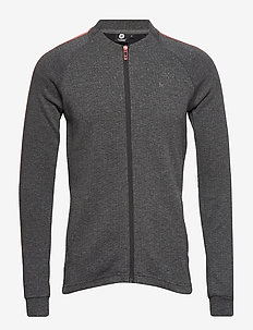HMLROVIC ZIP JACKET - DARK GREY MELANGE