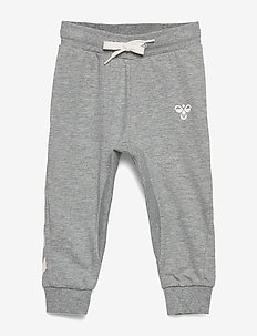 HMLAPPLE PANTS - sweatpants - grey melange